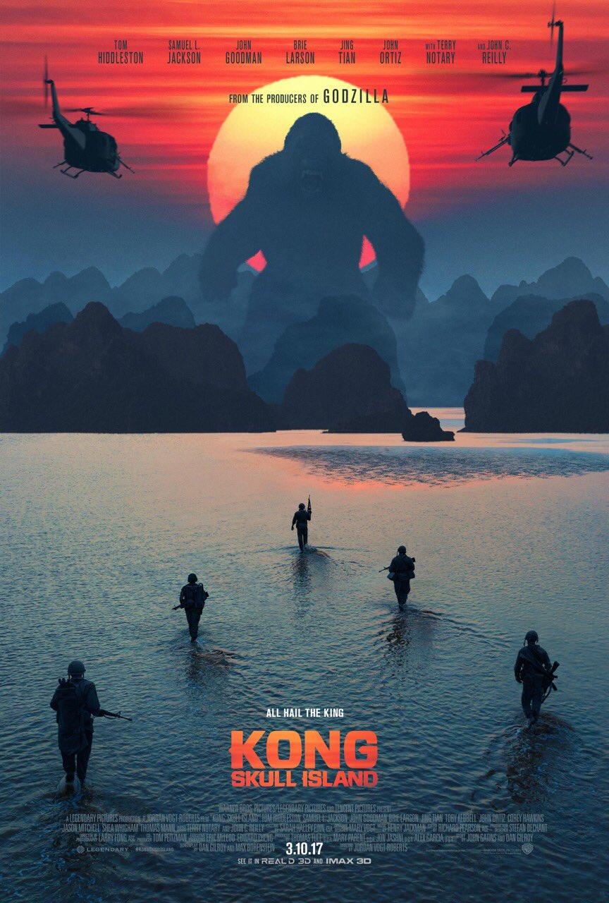 Ďalší plagát na Kong: Skull Island zverejnený Tomom Hiddlestonom