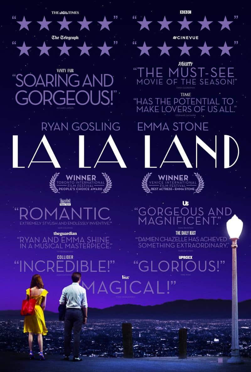 Nový plagát na La La Land s hodnoteniami od kritikov