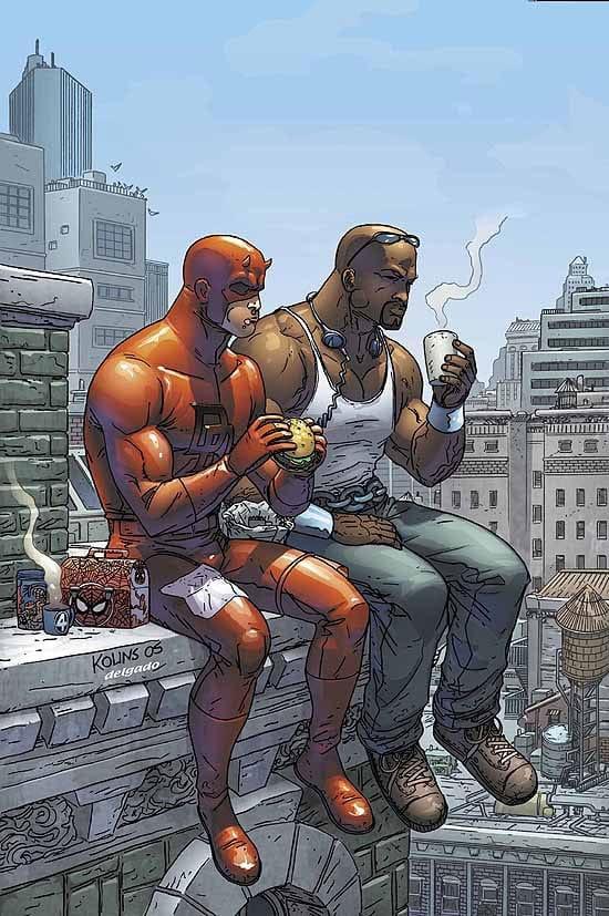 Ikonická scéna z komiksu Marvel Team Up vol.3 #9