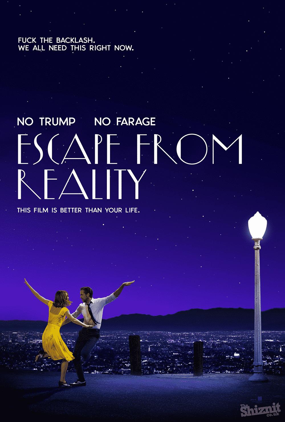 Úprimný plagát pre La La Land