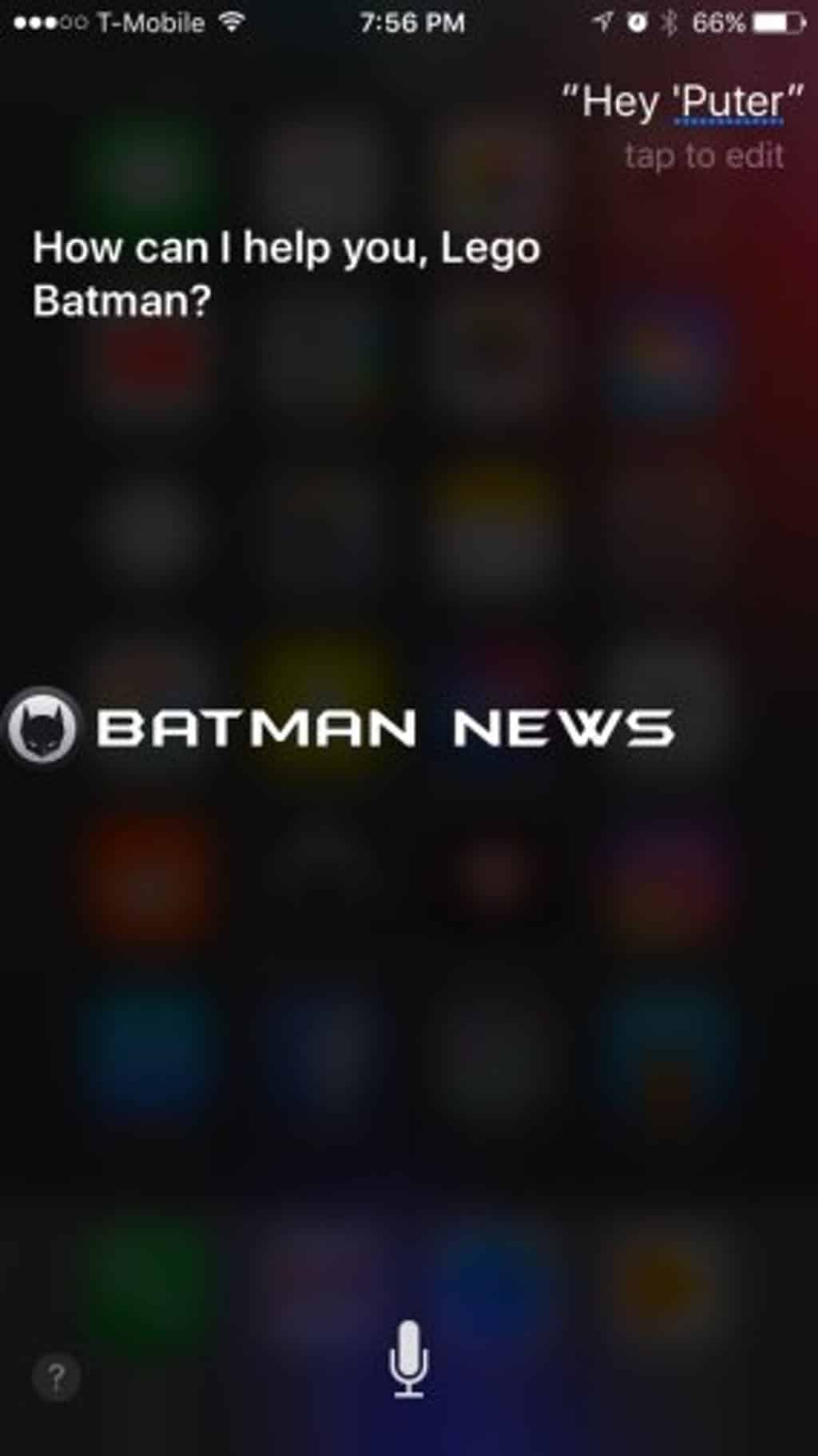 LEGO Batman iPhone Easter Egg