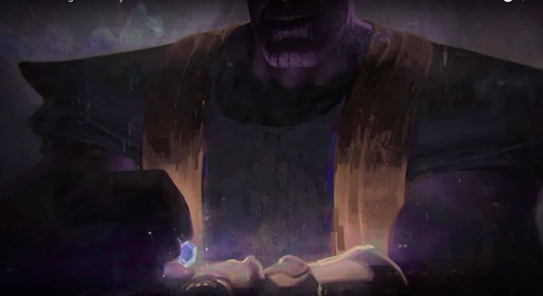 Thanos sa hrá s Kameňom Nekonečna; Zdroj: ent.fanpiece.com