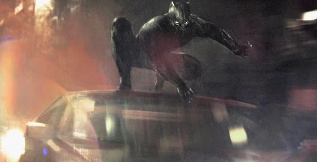 Black Panther v autovej naháňačke, Zdroj: screenrant.com