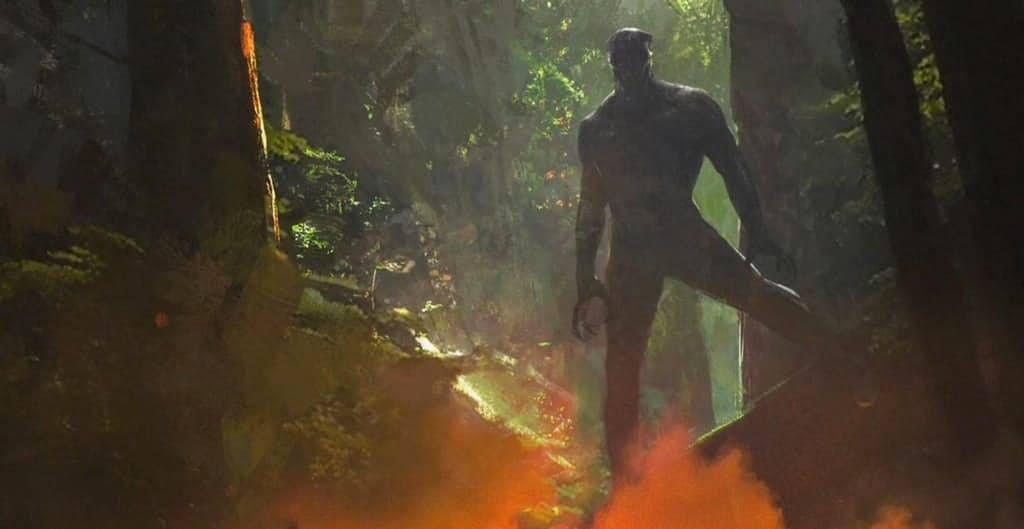 Black Panther v lese vo Wakande, Zdroj: screenrant.com