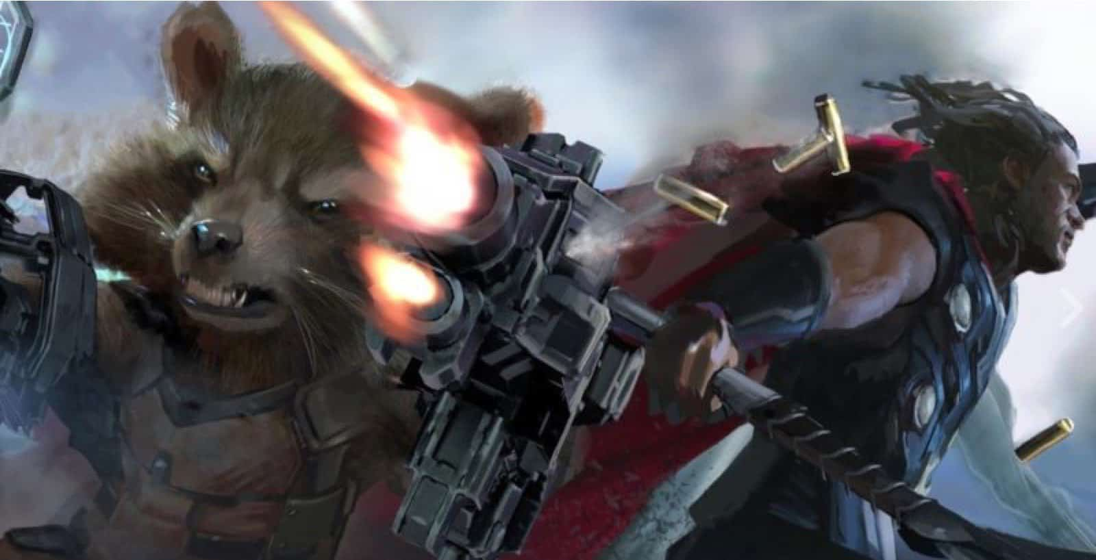 Rocket Raccoon a Thor spájajú sily!, Zdroj: slashfilm.com