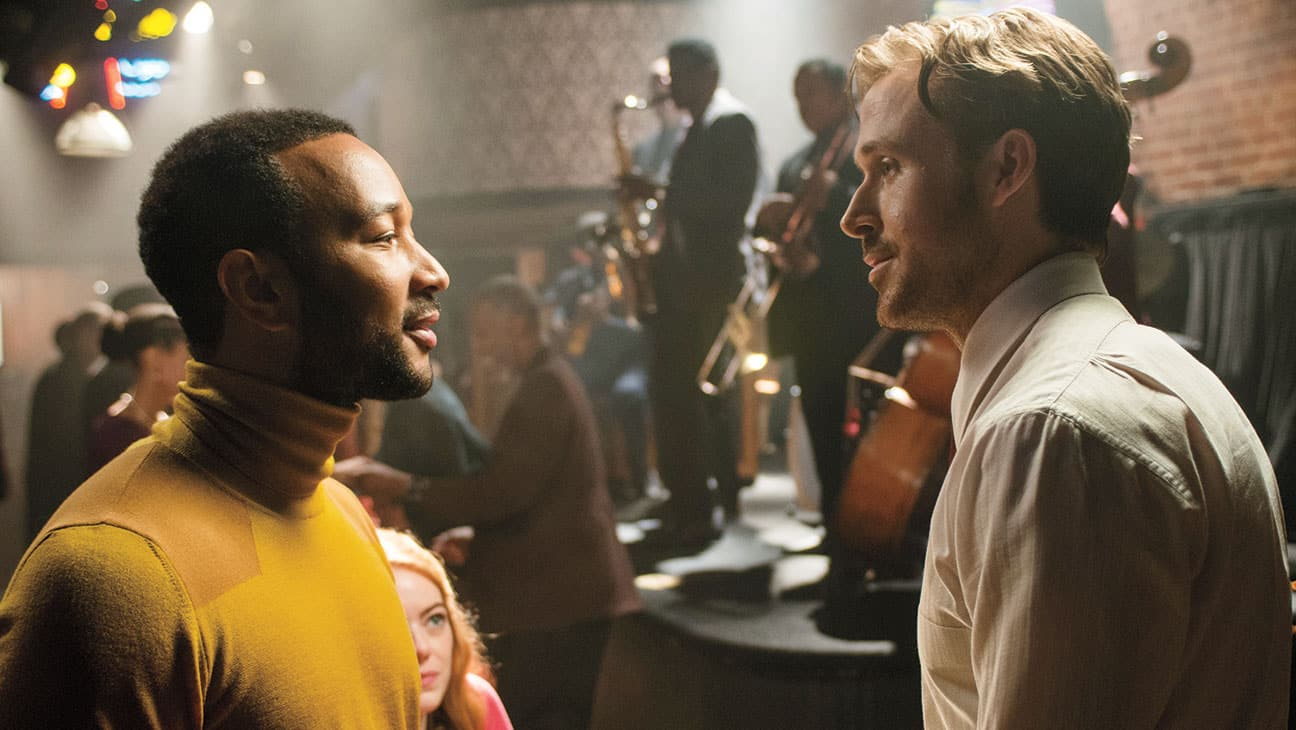 Keith (John Legend) a Seb (Ryan Gosling)