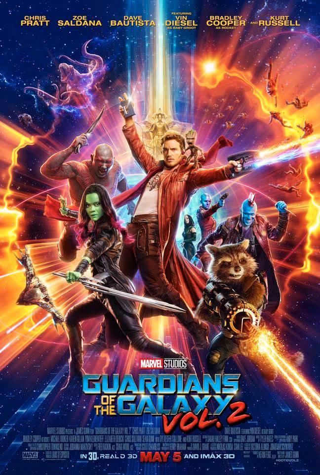 Oficiálny nový plagát pre Guardians of the Galaxy vol.2!