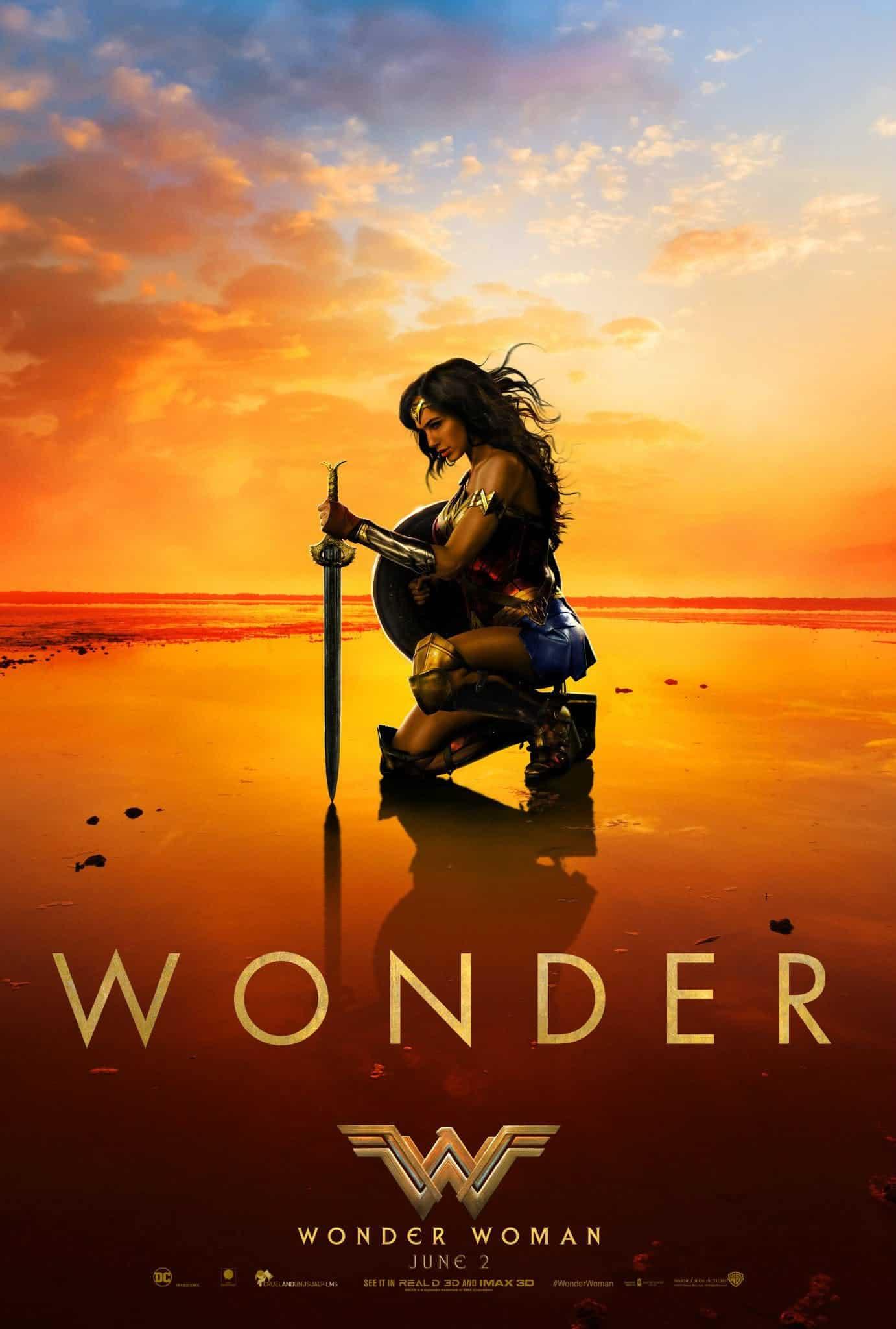Najnovší Wonder Woman plagát; Zdroj: screenrant.com