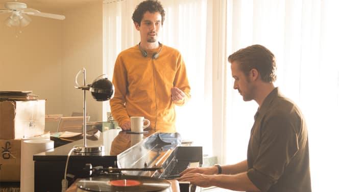 Damien Chazelle a Ryan Gosling pri natáčaní filmu La La Land; Zdroj: variety.com