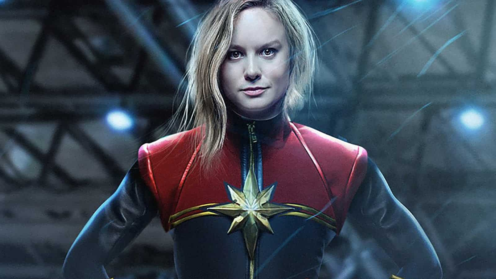 Fan-art Brie Larson v kostýme Captain Marvel
