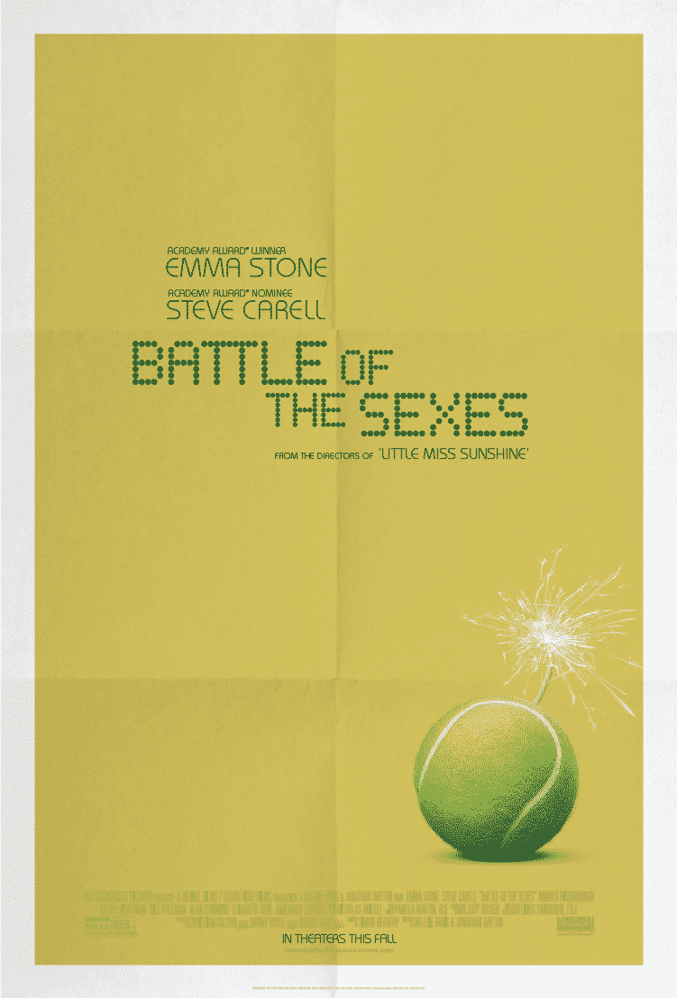 Oficiálny plagát na Battle of the Sexes