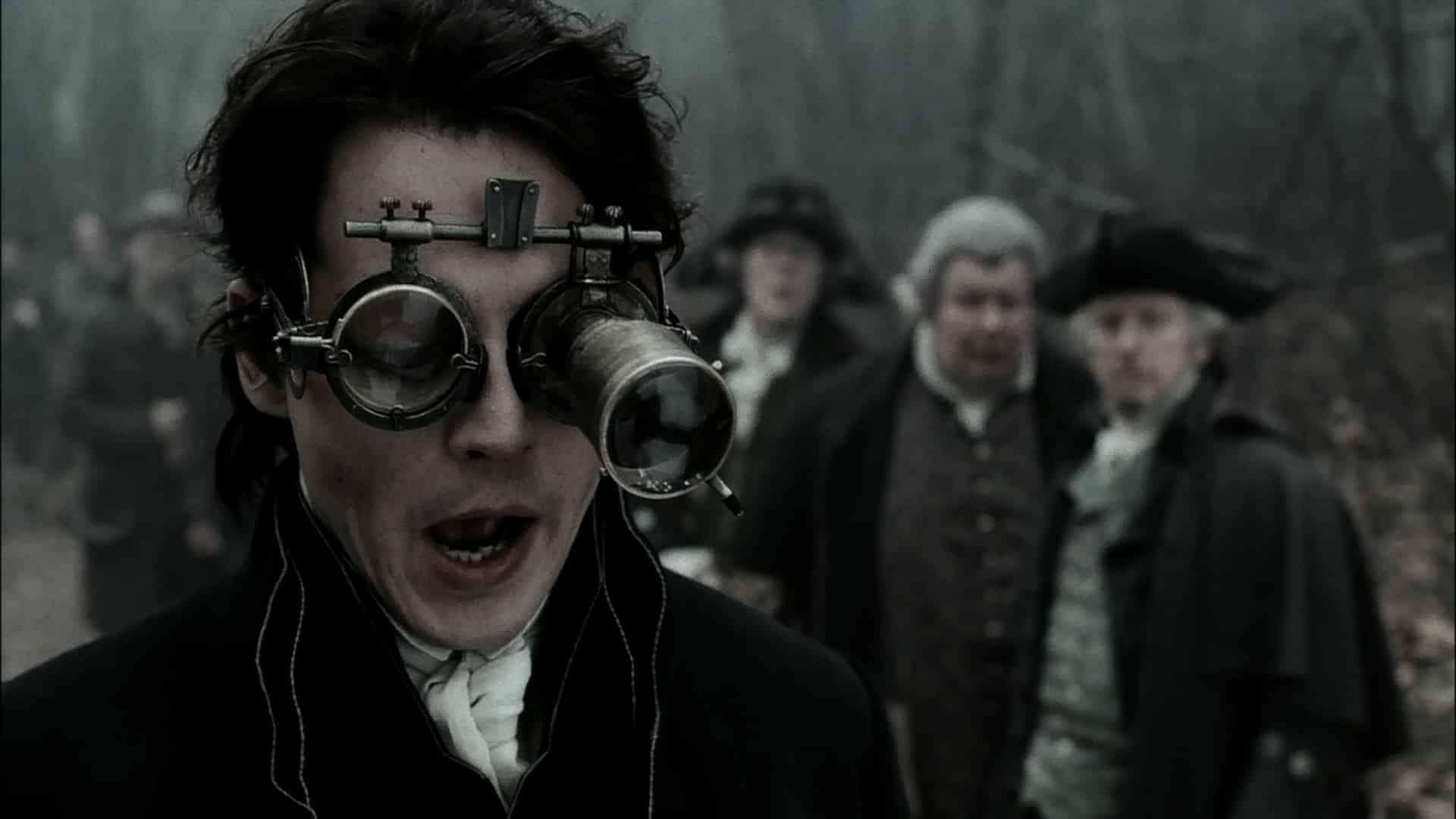 Ichabod Crane pri svojej praci používa všelijaké čudesné pomôcky.