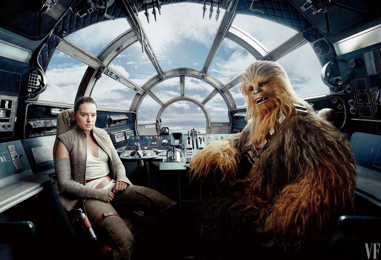 Rey a Chewbacca