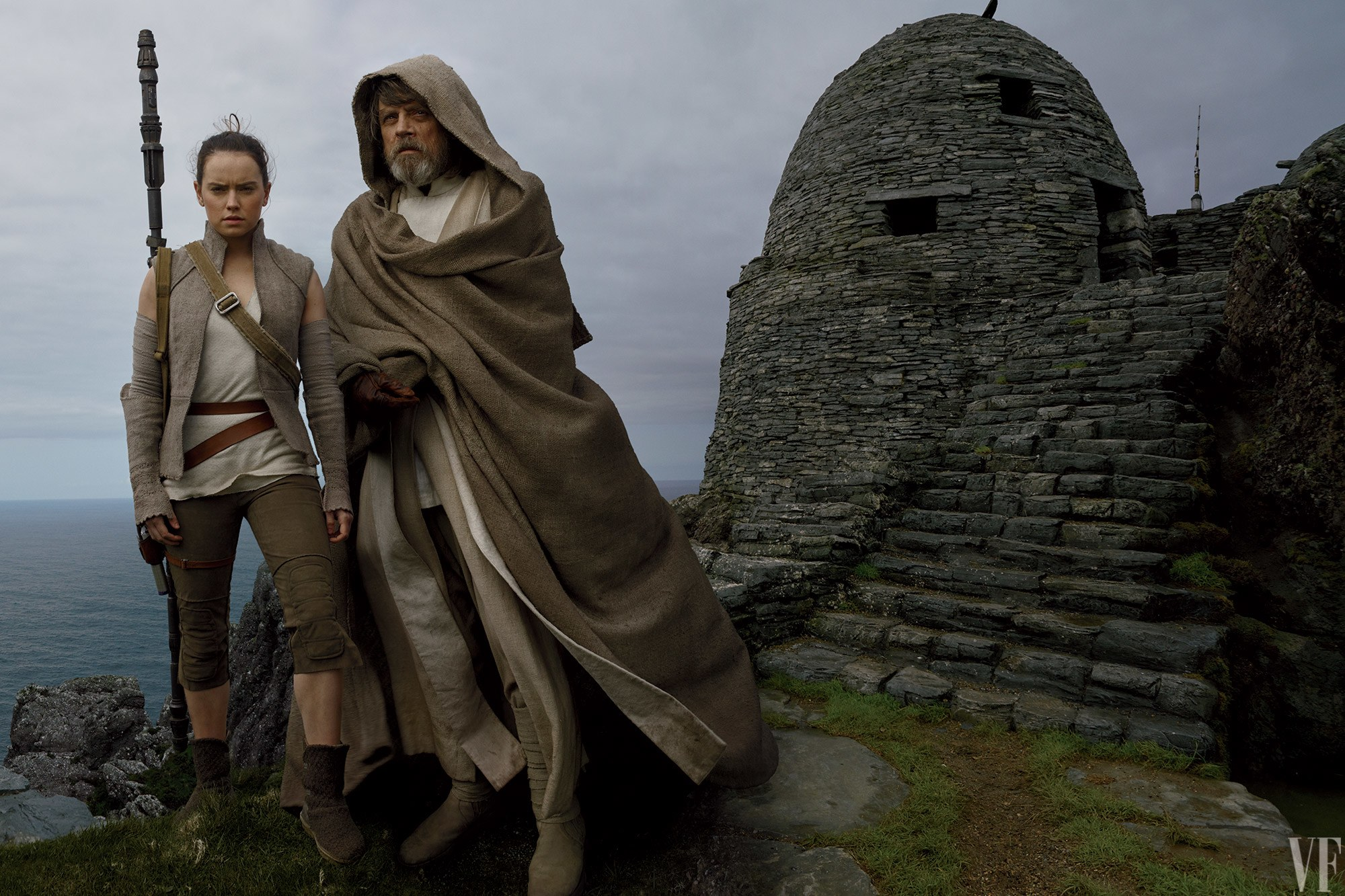 Rey a Luke Skywalker