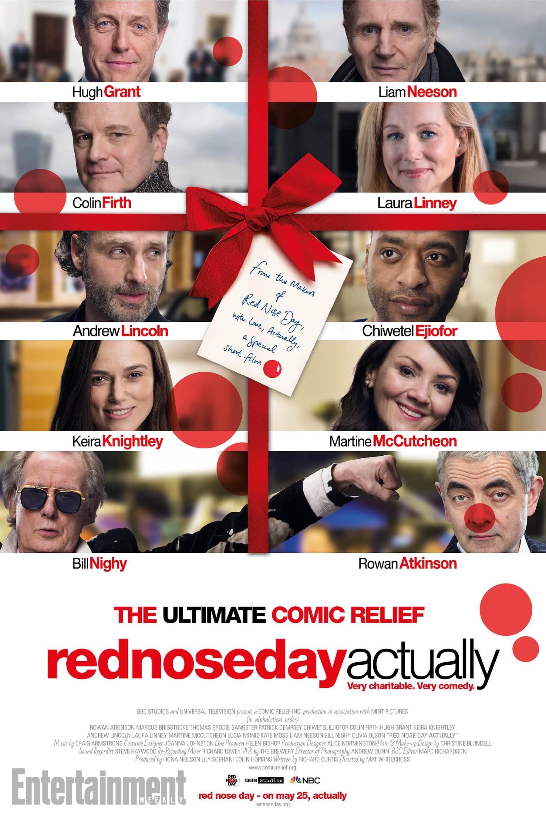 Oficiálny plagát na krátkomentážne pokračovanie Lásky Nebeskej, Red nose Day Actually