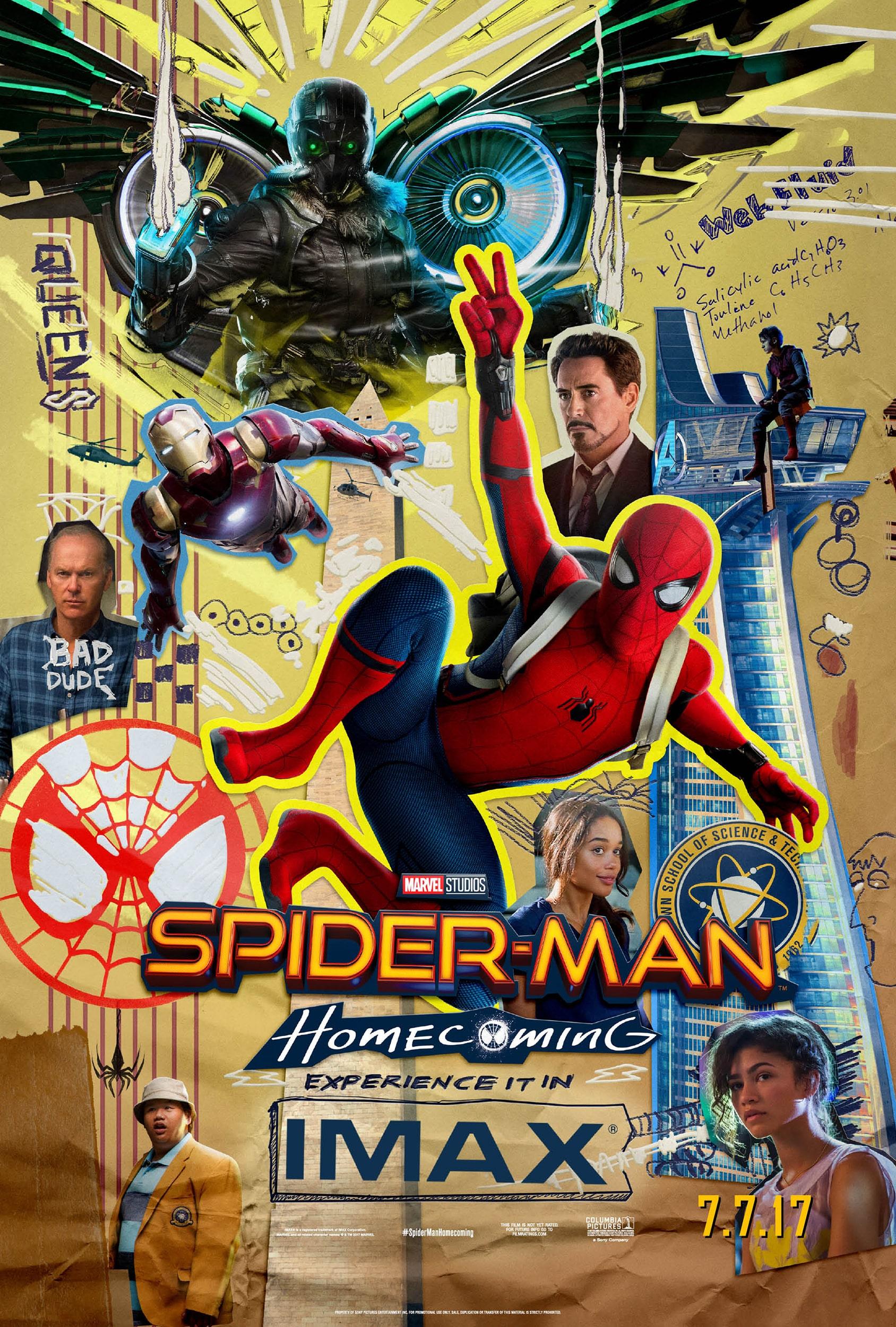 Oficiálny IMAX plagát pre film Spider-Man: Homecoming
