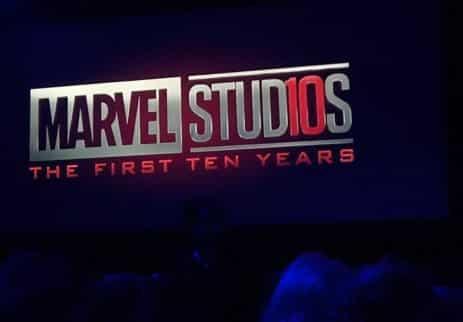 Logo Marvelu, na oslavu prvých 10 rokoch