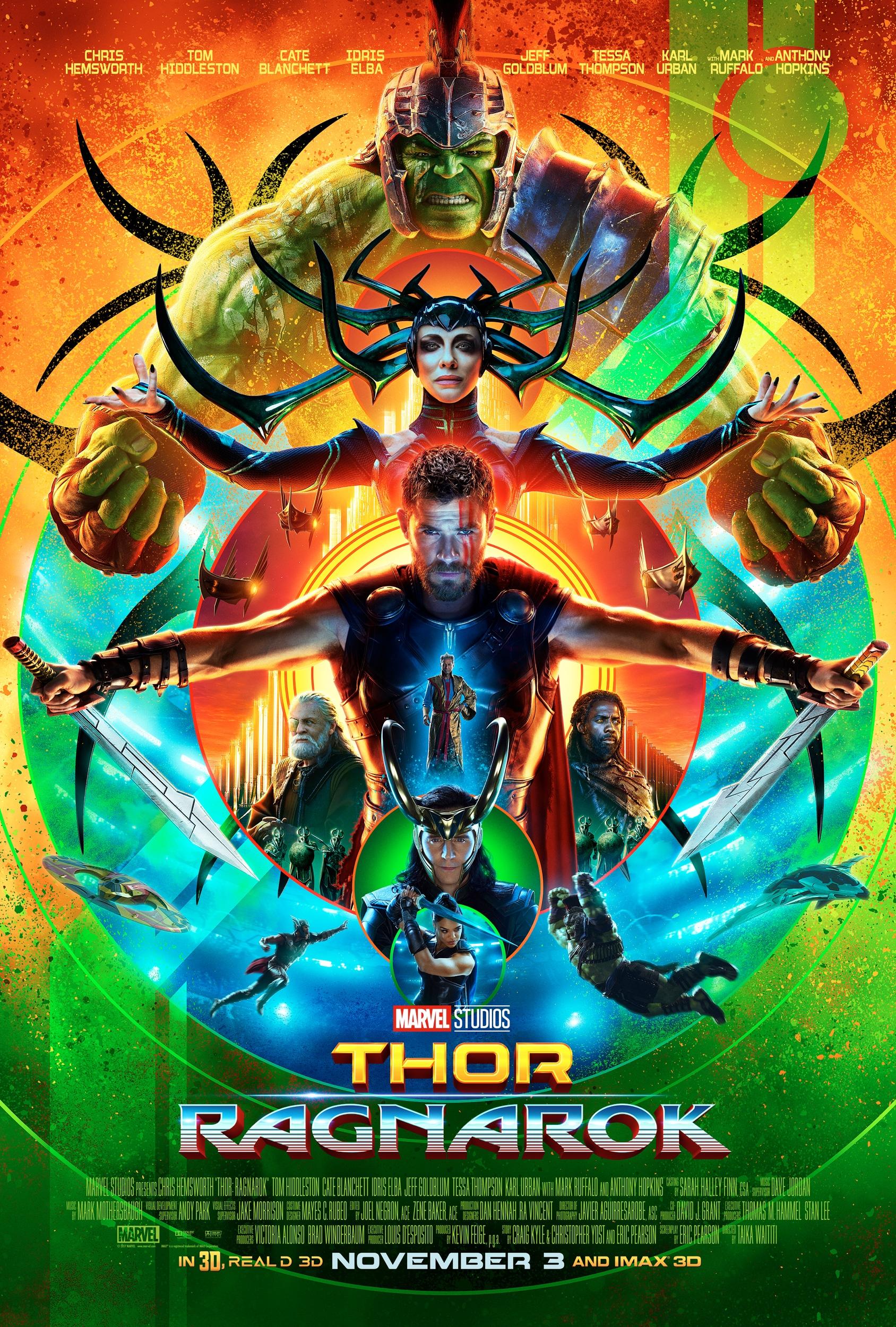 Oficiálny plagát k sedemnástej Marvelovke, Thor: Ragnarok!