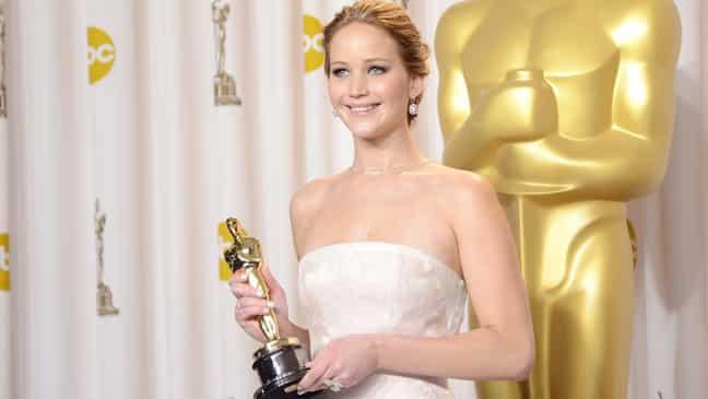 Lawrence na Oscaroch v roku 2013, Zdroj: thr.com