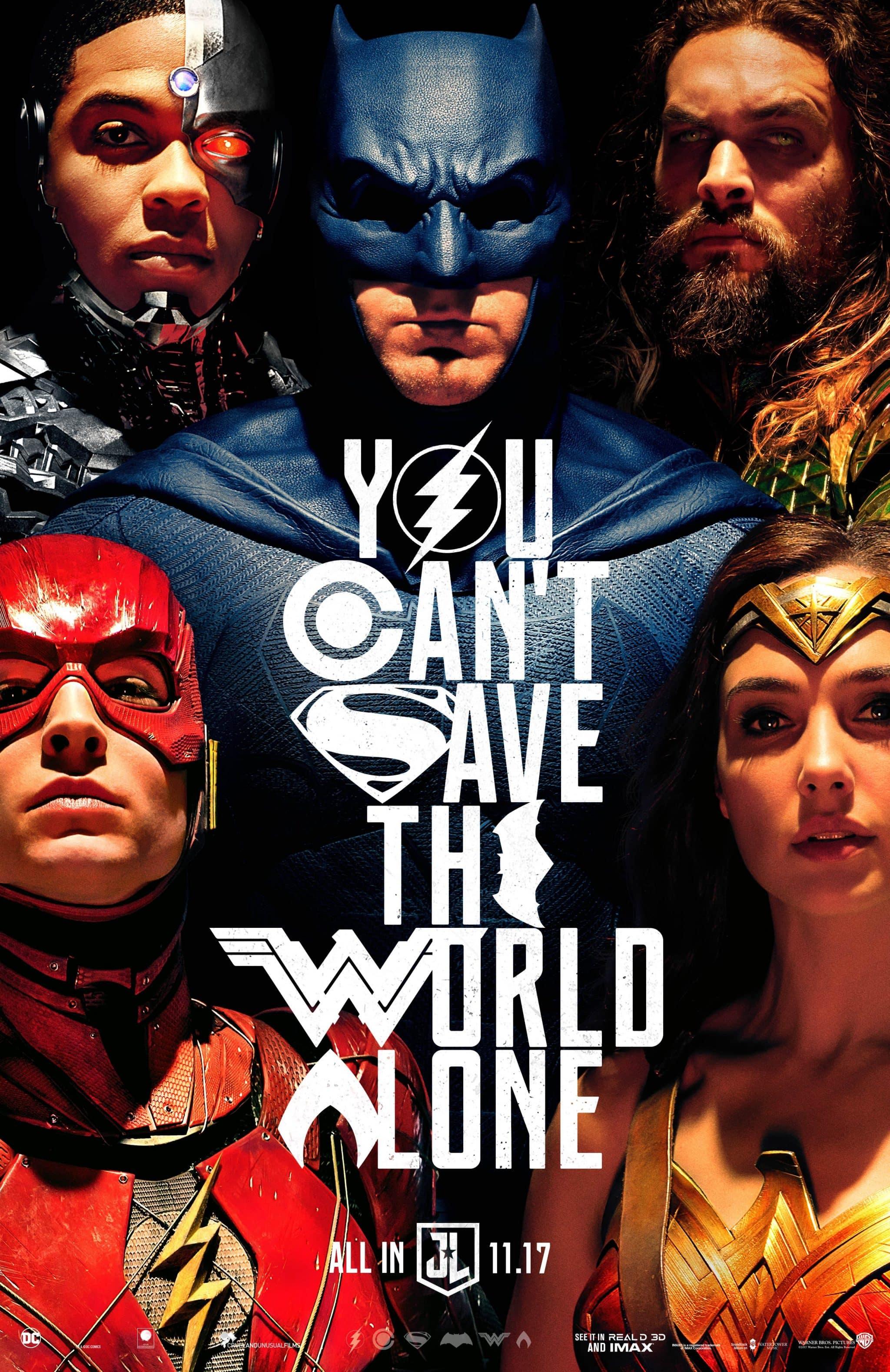 Oficiálny plagát pre Justice League
