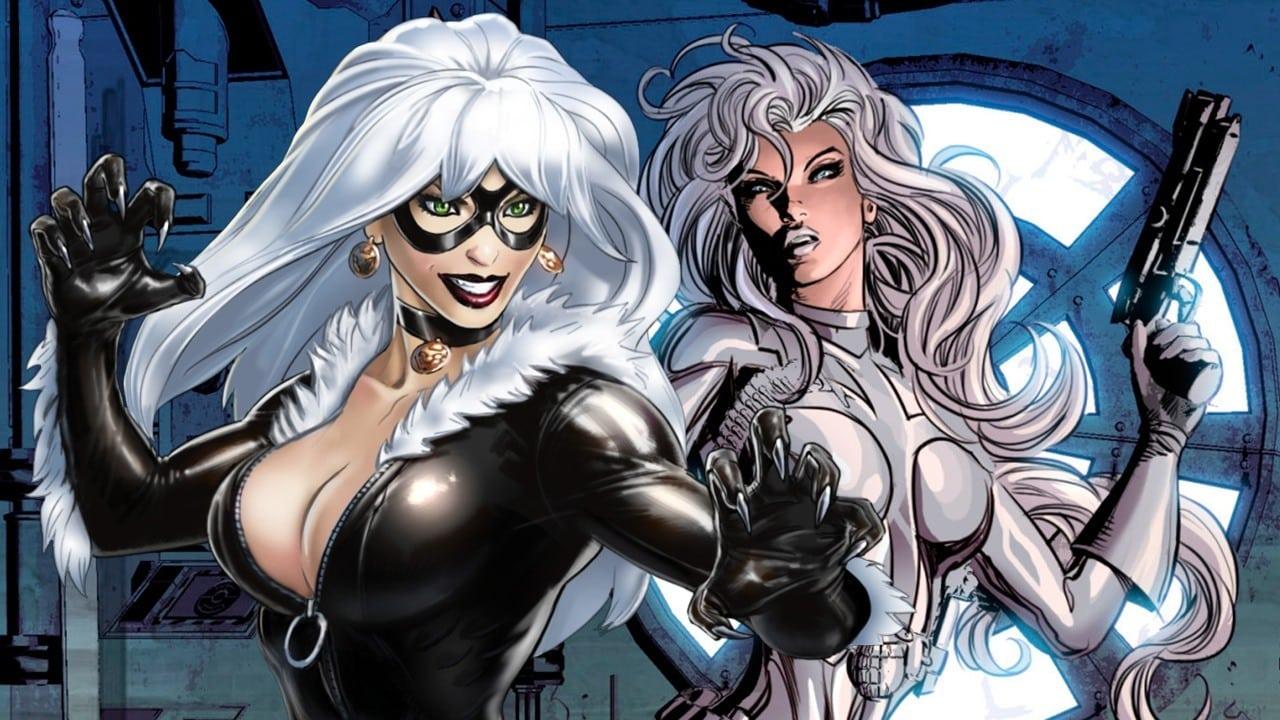Black Cat a Silver Sable vo svojich komiksových podobách