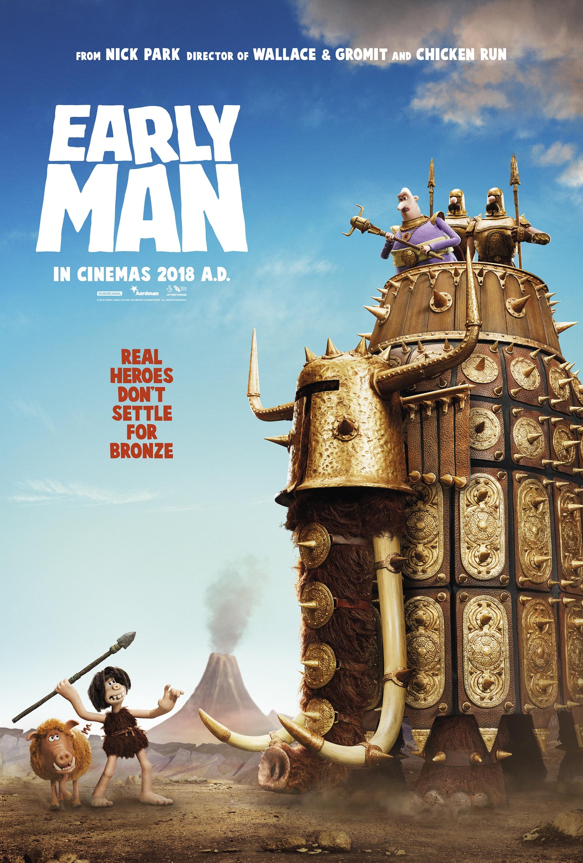 Oficiálny plagát na ôsmy film štúdia Aardman, Early Man